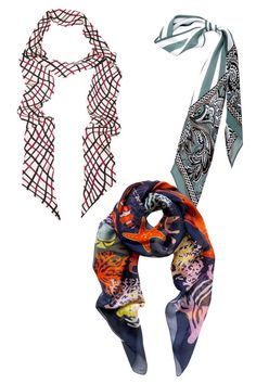 True summer struggle: how to dress for scorching heat outside and arctic air conditioning in your office. Try these seven outfit solutions—including these silk neck scarves here—to keep you stylish and comfortable in both conditions.