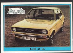 Panini Super Auto 1977 Sticker - No 56 - Vintage Car - Audi 50 GL