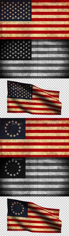 USA Flag Grunge and Retro Link this file here:http://graphicriver.net/item/usa-flag-grunge-and-retro/8969253?ref=Aslik American Flag Grunge and Retro Pack contains 3 styles American Flag:grunge, retro, waving transparent flag Very easy to use High resolution 3840×2160