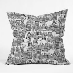 Sharon Turner Walking Doodle Toile De Jouy Throw Pillow | DENY Designs Home Accessories