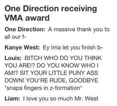 One Direction at the 2012 MTV Video Music Awards. hilarious stuff.