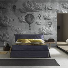 Wallpaper Model BEYOND THE CLOUDS Designed by Riccardo Zulato for Collection 15 | © London Art 2015 www.londonartwallpaper.com www.londonart.it