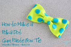 A step by step guide on how to make a gumpaste or fondant bow with pictures.