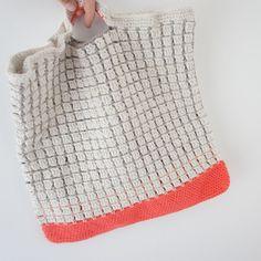 Kvalitid...: Hæklet indkøbsnet (eller måske taske?)... crochet handbag