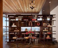 Cravotta Interiors Project: Four Seasons Penthouse – Custom Bookcase at Entry.