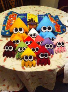 Splatoon  calamares coloreadas alternativos hecho a por FeltySquids