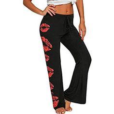 0c69cb3658b Memela Women Plus Size Sexy Fitness Gym Fashion Lip Printing Leggings  Trousers Yoga Sport Print Casual Pants