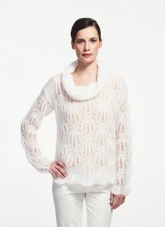 Cat. 16/17 - #250 Lacy sweater | Buy, yarn, buy yarn online, online, wool, knitting, crochet | Buy Online