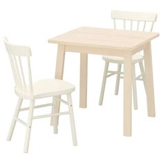 NORRÅKER / NORRARYD Table and 2 chairs, birch, white - IKEA Dining Room Table Chairs, Dining Room Sets, Table And Chair Sets, Ikea Table, Chaise Ikea, Ikea Armchair, Room Wall Decor, Quality Furniture, Wood Veneer