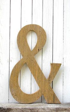 Rustic Wooden Ampersand Sign Wedding Decor by SecondNatureWoodwork #barnwood #ampersand #typography