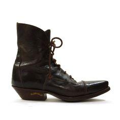 Sendra Lace Up Roper / Packer / Ankle Boots / by SpunkVintage, $98.00