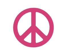 10 SIZES!!! Simple Peace Embroidery Machine Design ***Includes MINI sizes!!!*** by OCDEmbroidery on Etsy