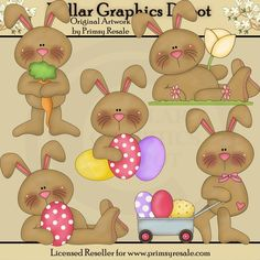 Easter Bunny Clip Art Set - $1.00 @ Dollar Graphics Depot: Quality Graphics ~ Discount Prices www.DollarGraphicsDepot.com