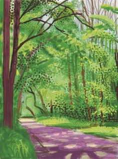 The Arrival of Spring in Woldgate, East Yorkshire in 2011 - 28 April, 2011, by David Hockney