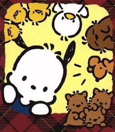 pochacco dog, chicks, ground animals, Kawaii