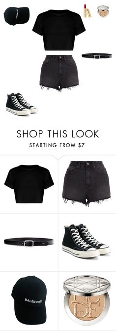 """""""BLACKPINK - As If It's Your Last Dance Practice Inspired Outfit Lisa"""" by ekinirmak ❤ liked on Polyvore featuring Ksubi, Lauren Ralph Lauren, Converse, Balenciaga and Christian Dior"""