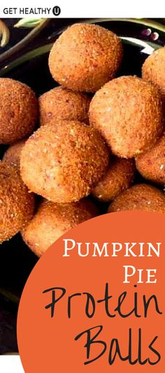 These protein balls taste like rolled up pumpkin pie filling, but each serving also has almost 7 grams of protein! They are totally VEGAN, GLUTEN-FREE, and super easy to make.