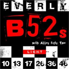 Everly B52's Electric Guitar Strings Light 9210 10-46