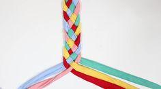 Rock Mosaic DIY tutorial shows you how to make a 5 strand braid.