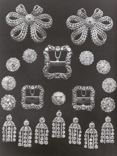 12 diamond buttons epoch Catherine II in the imperial collection before being broken up