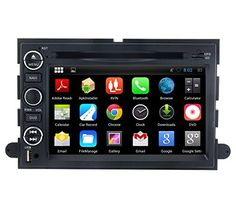 Special Offers - Yinuo Higher Res 1024600 Android 4.4 Car DVD GPS Stereo for Ford F-series/Mustang/Expedition/Explorer/Sport Trac/Edge/Fusion/Lincoln Mark LT/E-Series vans 7 Inch In Dash Navigation Receiver with Capacitive Digital Touch Screen support GPS/DVD/AM FM Radio/iPhone Screen Mirroring/Steering Wheel Control/Bluetooth/Built-in Wifi Hotspots/3G/OBD2/DVR/AV-IN with Free External Mic & 8GB Map Card as gift - In stock & Free Shipping. You can save more money! Check It (April 17 2016 at…