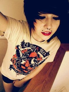 Nu Goth, Hairstyles With Bangs, Pretty Hairstyles, Scene Hairstyles, Haircuts, Drag Queens, Goth Make Up, Soft Grunge Hair, Emo Scene Hair