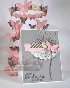 Stampin' Sweet: Craft Project Central: Butterfly Mobile & Card