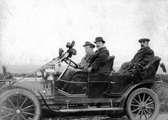 https://flic.kr/p/z2N6kx | John Leng Sturrock | This photograph shows John Leng Sturrock at the steering wheel of the car during an election campaign in December 1910.  The gentleman in the front passenger seat with the bowler hat and moustache is George T Watson.