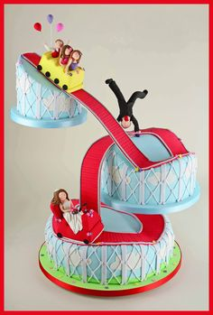 Roller Coaster Wedding Cake