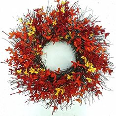 Firebush All Weather Fall Door Wreath Wreaths For Door http://www.amazon.com/dp/B00MKAK6P2/ref=cm_sw_r_pi_dp_PVp6tb0119M1E