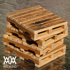 Woodworking for Mere Mortals: Free woodworking videos and plans. : Pallet drink coasters
