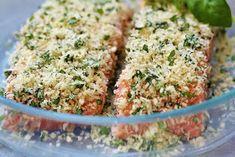 Två små kök: Frasig pankopanerad lax med stekt potatis, sparris och lök Lax, Magen, Fried Rice, Macaroni And Cheese, Fish, Nom Nom, Frases, God, Mac And Cheese