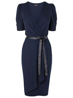 Buy Phase Eight Polly Wrap Dress, Navy online at JohnLewis.com - John Lewis