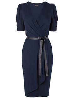 Buy Phase Eight Polly Wrap Dress, Navy online at JohnLewis.com - John Lewis