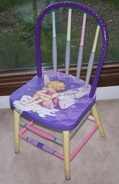 bad rabbit vintage - painted furniture with attitude : The Fairy Chair