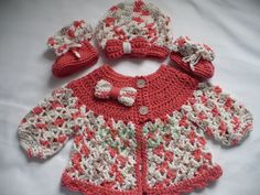cardi, hat and bootie set