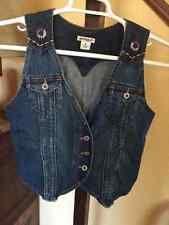 Womens's Bolo Jeans Co Embroidered Denim Vest Medium