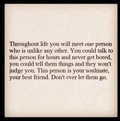 I'll never let him go....