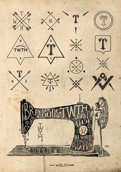 BM Design: TWTH - Atelier  Branding, hand-lettering & textil design