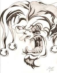 free easy way to draw scary clowns download free clip art free how to draw a scary clown step by step creatures monsters free evil face drawings very evil