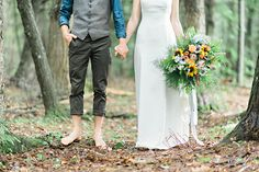 #Woodland / #bohemian inspired Bride in #whimsical and #enchanting forest in Nova Scotia! #love #wedding #bridal #bouquet #forest #beautiful #flowers  #cute #couple #hipster