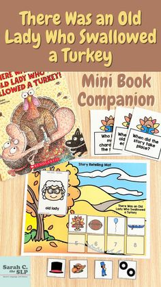 There Was an Old Lady Who Swallowed a Turkey Mini Book Companion for Thanksgiving Lessons