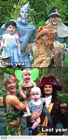 """Neil Patrick Harris and family on Halloween. I LOVE THEM. TOTES ADORBS. At the same time, I'm like """"BARNEY AND SCOOTER ARE A COUPLE!!"""""""