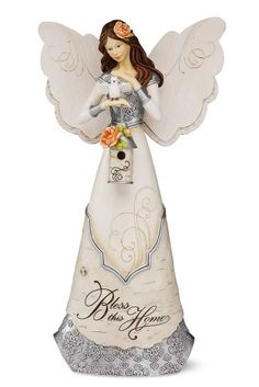 Elements Bless This Home Angel Figurine by Pavilion, 12-Inch, Holding Bird and Birdhouse, Reads Bless This Home Elements,http://www.amazon.com/dp/B0078SM5S2/ref=cm_sw_r_pi_dp_vvdAtb0ND6KJ24JP