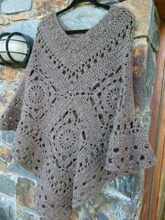 Crochet poncho More - Crocheting Journal