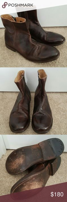 NEW BedStu Cobbler Series Brown Leather Boots 11.5 Bought these for my husband as a gift when he returned from a deployment but he never wore them...he's partial to his black and gray pairs. NWOB, style name is called Capricorn. The bottoms come that way, not to be mistaken for wear. Bed Stu Shoes Boots