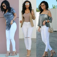 I& wear it. Cute Outfits With Jeans, Classy Outfits, Stylish Outfits, Cute Fashion, Fashion Outfits, Girl Fashion, 80s Fashion, Looks Jeans, Neue Outfits