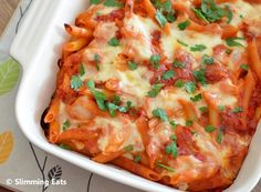 Tuna Pasta Bake | Slimming Eats - Slimming World Recipes