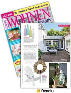 Vorschlag zu Laura WOHNEN Kreativ NR.05 2016 Seite 59 Trends, Magazine Rack, Home Decor, Magazines, Creative, Homes, Decoration Home, Room Decor, Home Interior Design