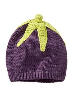 Gap Favorite Eggplant Hat // if its a lady Little People, Little Girls, Mardi Gras, Knitting Projects, Knitting Patterns, Knit Crochet, Crochet Hats, Baby Girl Shoes, Baby Gap